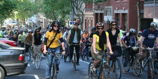 Cyclists in Melbourne, Australia
