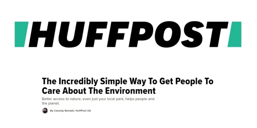 HuffPost Featured Article: The Incredibly Simple Way to Get People To Care About the Environment