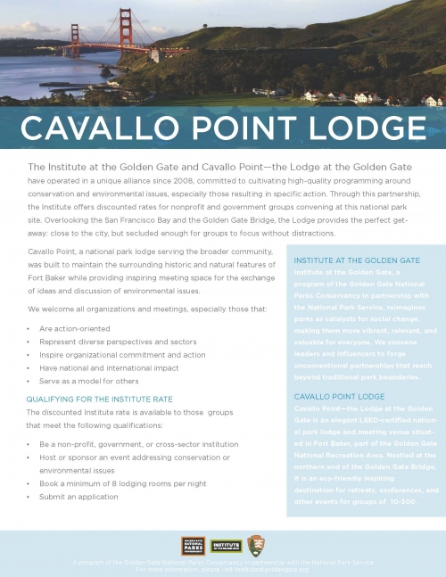 Cavallo Point One-Pager
